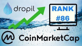 DROPIL HITS #86 ON COINMARKET CAP! I MADE $2K