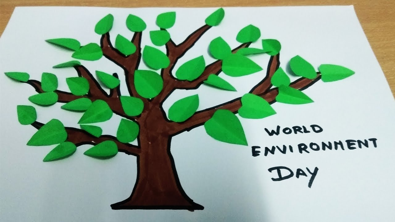 World Environment Day Drawing For Kids Save Earth Tree Drawing
