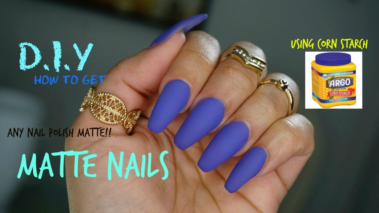 how to make any nail polish matte d i y using corn starch youtube. Black Bedroom Furniture Sets. Home Design Ideas