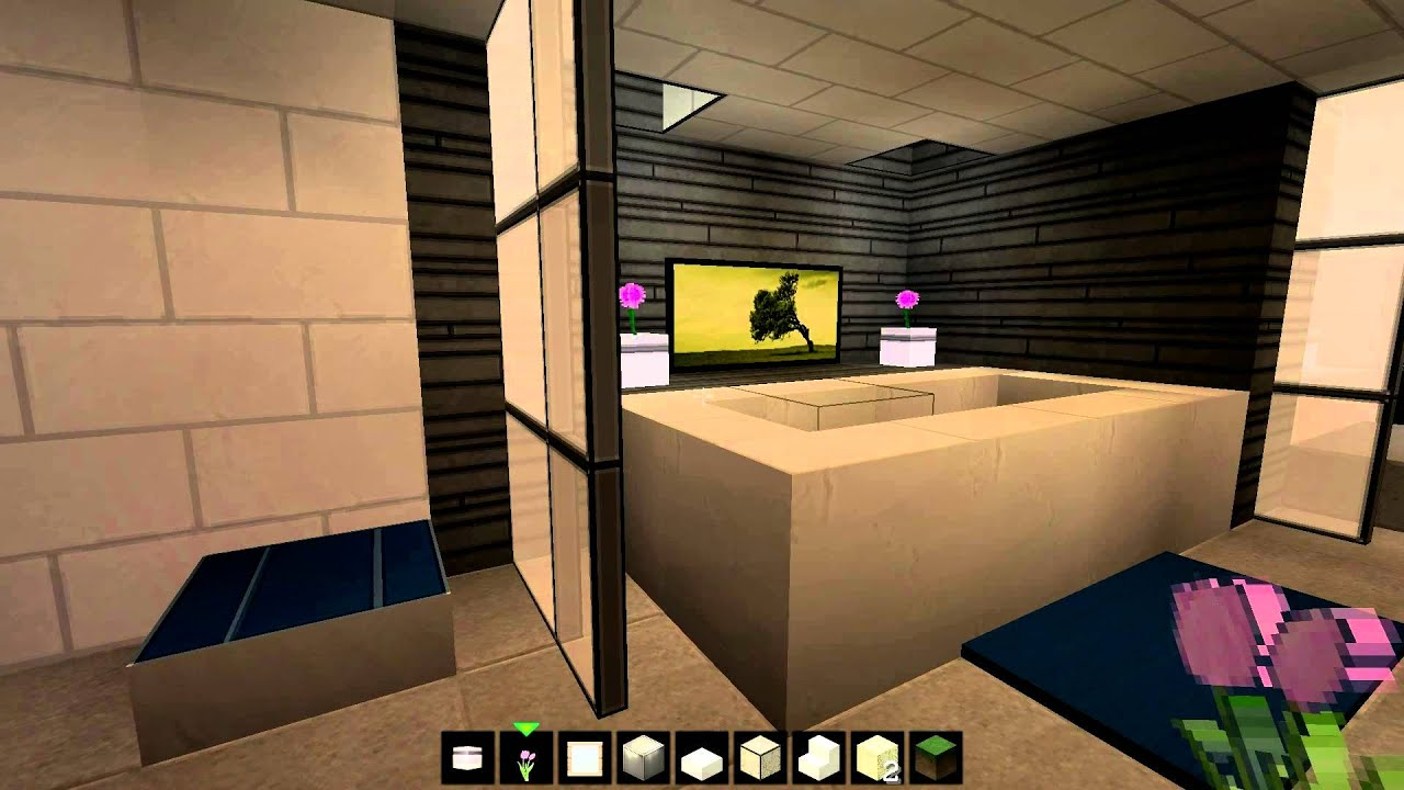 Minecraft Schlafzimmer Modern Minecraft Modern Bathroom 2015 Youtube