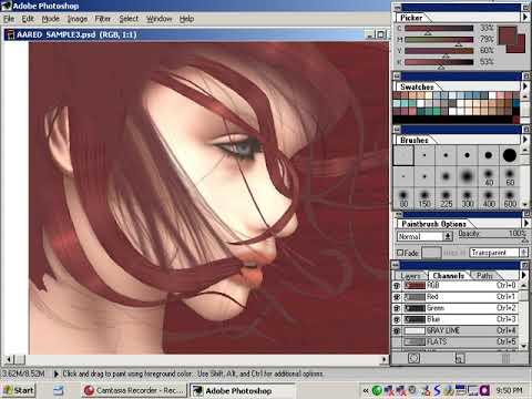 Digital Art Tutorials – Volume 8 – Digital Painting Photo Real PART 7