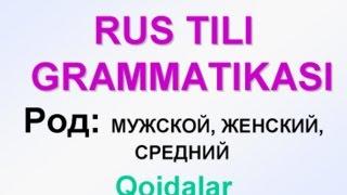 2-dars. ROD (JINS). RUS TILI GRAMMATIKASI. Uzrustili
