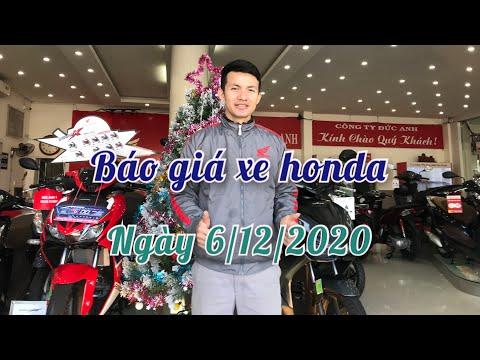 Cập nhật Bảng giá xe honda cuối tuần ngày 6/12/2020 mới nhất hôm nay