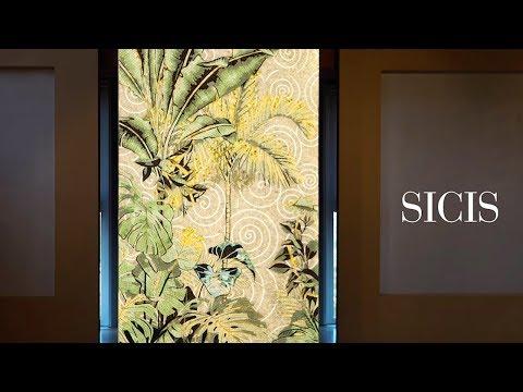 SICIS Backlit Mosaic Installation