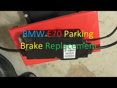 BMW X5 E70 2007-2013 Parking Brake Replacement DIY - YouTube