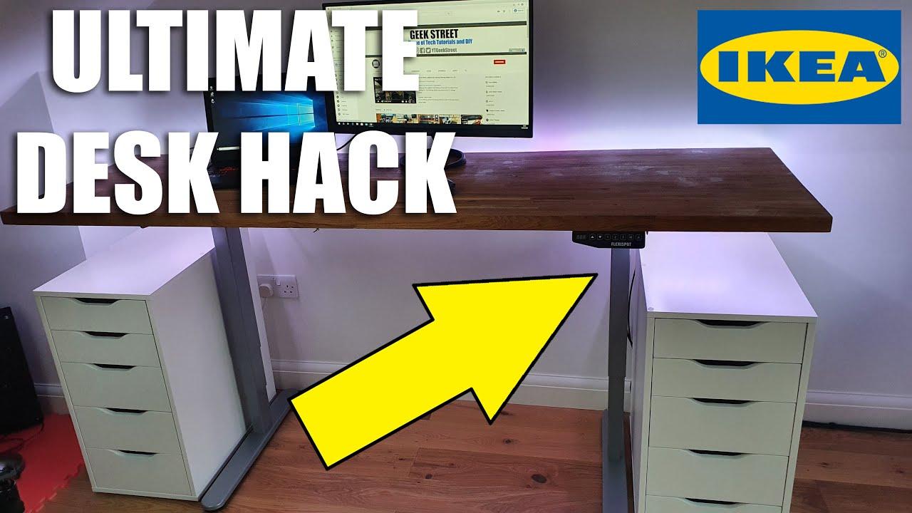 Ikea Gaming Desk Hack With Flexispot Desk Frame Unboxing And Setup Youtube