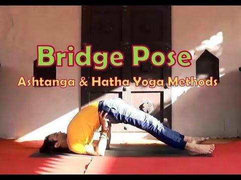 yoga back bend  setu bandha sarvangasana  bridge pose