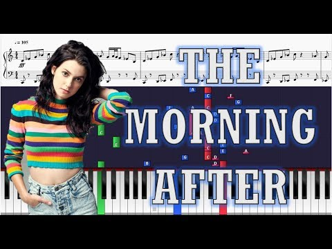 Meg Myers - The Morning After - EASY Piano Tutorial w/ Sheets