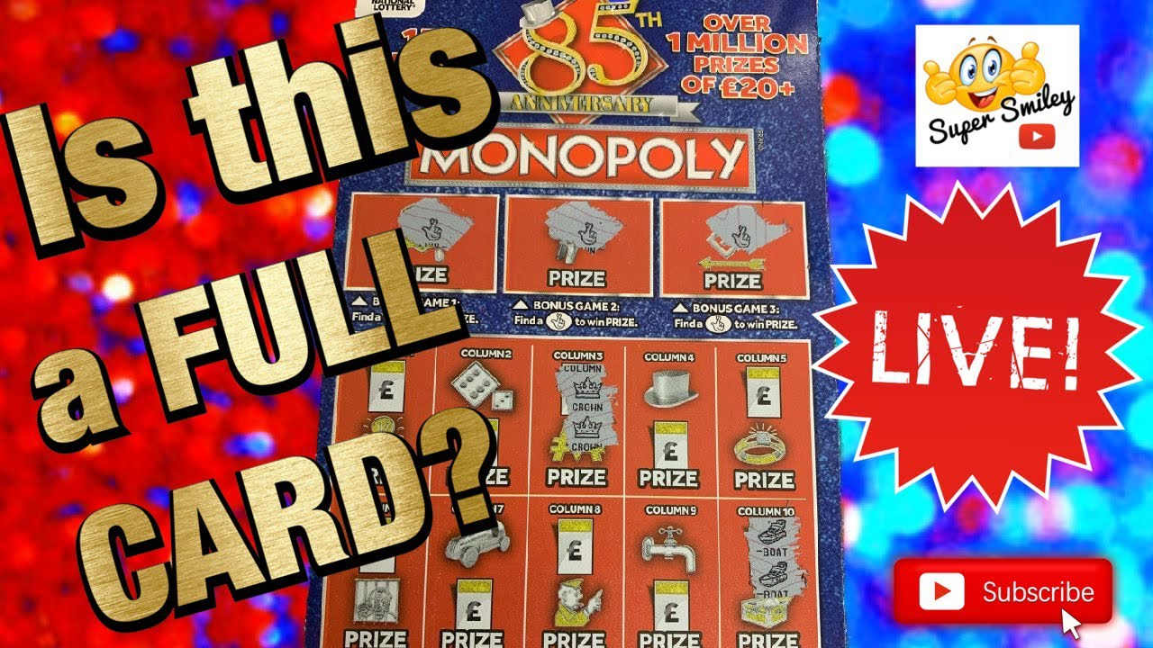 ⭐️ ⭐️ ⭐️ Have I found a FULL Monopoly Scratch Card???? Let's find out 🤞🤞🤞