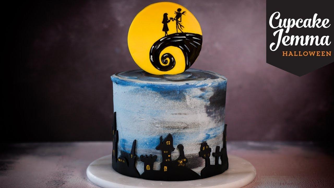 nightmare before christmas halloween cake | cupcake jemma - youtube