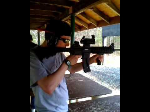 shooting range 22 caliber ar 15 rifle youtube