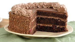 Шоколада МНОГО не бывает Шоколадный торт с вишней ПЬЯНАЯ вишня торт на день рождения