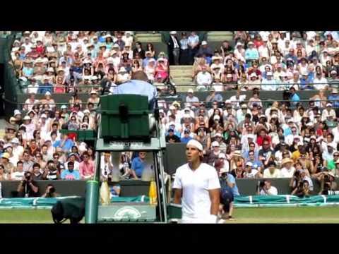 Rafa argues at Wimbledon 2010