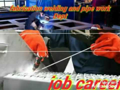 Fabrication welding and pipe work admissions are opene