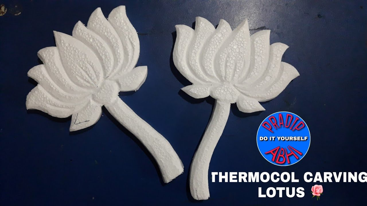 Thermocol Carving Done By Abhi Art Youtube