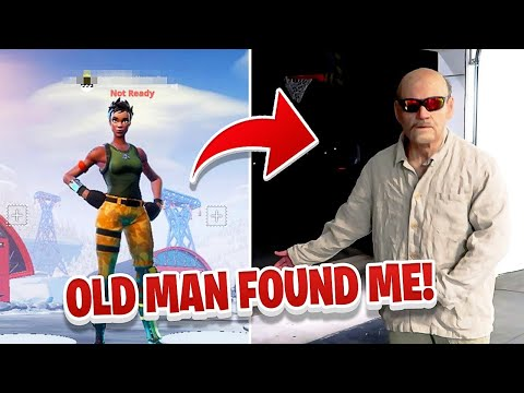I Put my ADDRESS in my Fortnite name & Someone Came Over (Creepy Old Man)