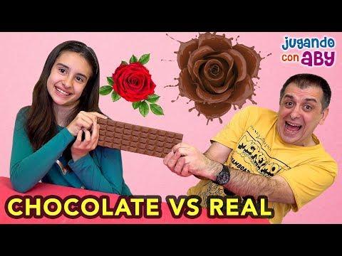 CHOCOLATE VS REALIDAD. El Reto Más Dulce Y Divertido! | ABY
