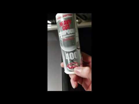 How to remove mineral deposits on paint.