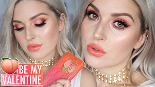 Valentines Day Makeup Tutorial 💕 Sweet Peach Eyeshadow! 🍑