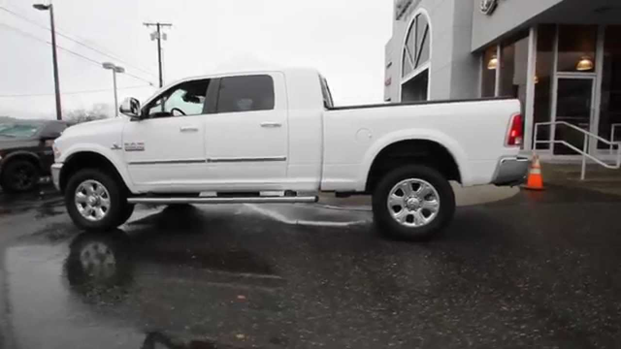 2014 dodge ram 2500 laramie mega cab white eg319952 mt vernon skagit youtube - 2015 Dodge Ram 2500 Mega Cab Lifted Interior