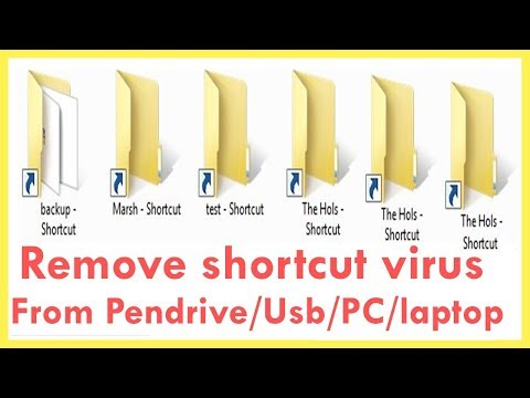 How To Remove Shortcut Virus From Pendrive/USB Drive