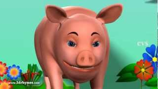 The Dog Says Bow Wow  - 3D Animation Animal Sounds rhymes for children