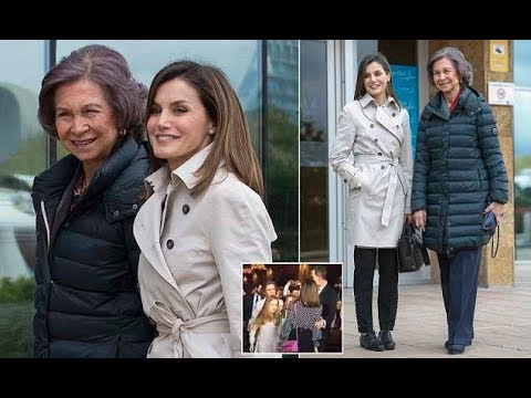 Queen Letizia and Queen Sofia in first appearance together since 'tense' exchange
