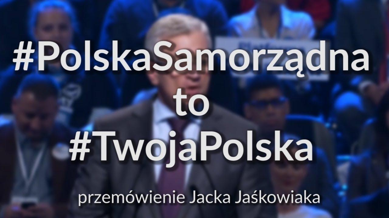 Jacek Jaśkowiak – Samorządy Obywatelskie ( przemówienie )
