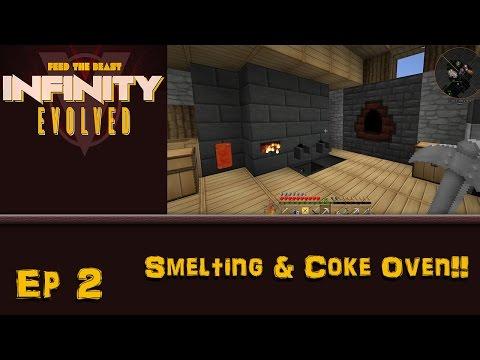 FTB Infinity Evolved - Ep. 2 - Smelting & Coke Oven!!!