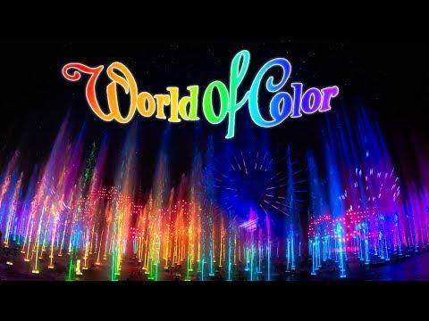 [4K] World Of Color 2020 - Front Row - Disney California Adventure