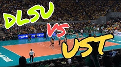 DLSU vs. UST Season 81 Womens Volleybal Final four in MOA Arena (Intense!!)