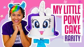 How To Make A FABULOUS My Little Pony RARITY UNICORN Funfetti CAKE | Yolanda Gampp | How To Cake It