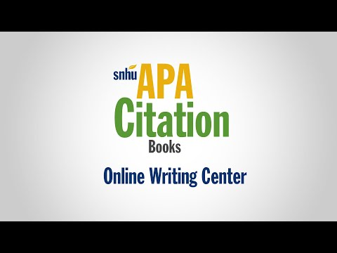 APA Citation: Books CC