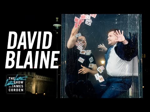 David Blaine Goes Underwater for a Card Trick & Wine - #LateLateLondon