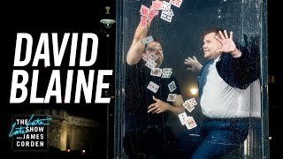 David Blaine Goes Underwater for a Card Trick & Wine - #LateLateLondon