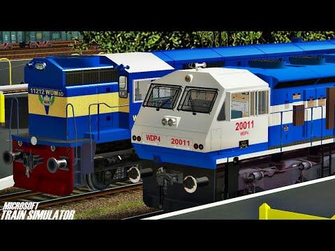 New Delhi - Dibrugarh Town Rajdhani Express    NFR    MSTS Open Rails Journey Part 1