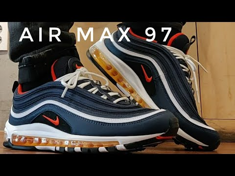 21ae6462e Nike Air Max 97 Midnight Navy/Habanero Red - A Classic Sneaker in a Modern  Colorway - YouTube