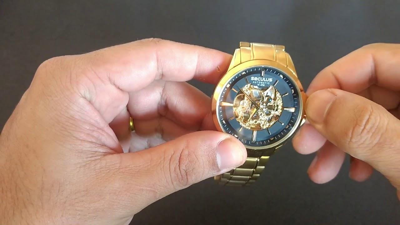 Relógio Seculus Masculino Automático Esqueleto 20552GPSVDA1 - Relógios de  Fabrica d898c702c7