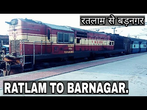 Ratlam to Barnagar Train Journey | Ratlam-Indore-Gwalior Intercity Express | Electrification Status.