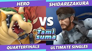 TAMISUMA 175 Quarterfinals - Hero (Bowser) Vs. Shidarezakura (Snake) Smash Ultimate SSBU