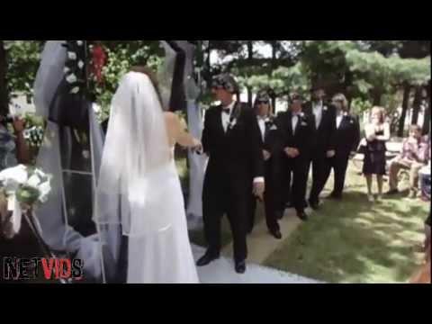 The Most White Trash Wedding Entrance