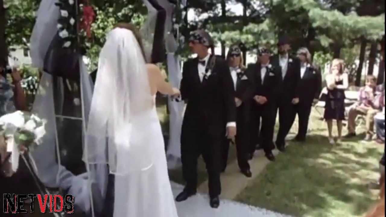 White Trash Wedding.The Most White Trash Wedding Entrance