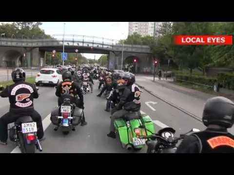 Tumult da politiet standsede rockerne i København