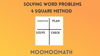 Four Square Method for Solving Word Problems