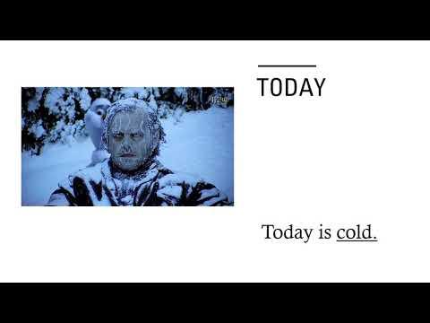 Weather today tomorrow yesterday Inglés zaragoza