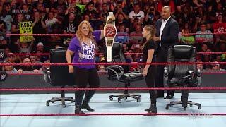 WWE Wal3ooha: روندا راوزي تتعهد بالفوز بلقب راو في موني إن ذا بنك