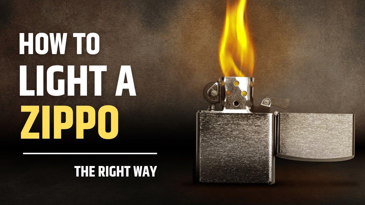 How to light a Zippo lighter & How to light a Zippo lighter - YouTube