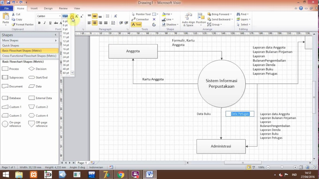 Tutorial membuat context diagram sistem informasi perpustakaan tutorial membuat context diagram sistem informasi perpustakaan menggunakan visio ccuart Choice Image