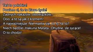 Król Lew- Hakuna Matata ~Tekst~