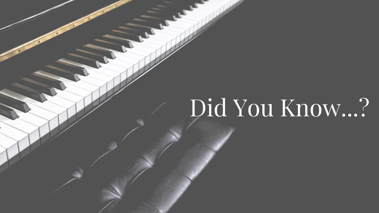 Did You Know...? Musical Notes!